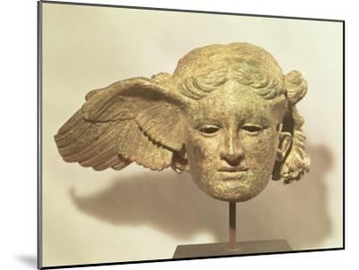 Head of Hypnos, or Sleep, an Auxiliary of Hades, Represented as a Winged Youth--Mounted Giclee Print