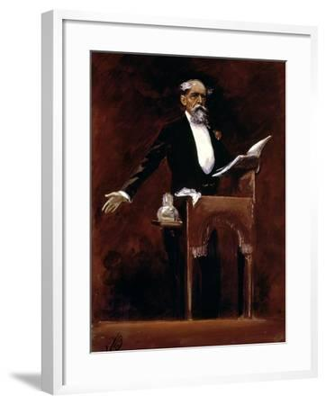 Charles Dickens (1812-70)-James Bacon-Framed Giclee Print