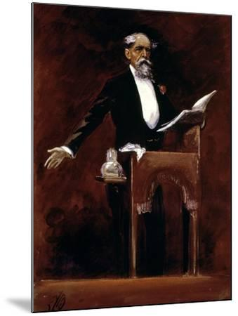 Charles Dickens (1812-70)-James Bacon-Mounted Giclee Print