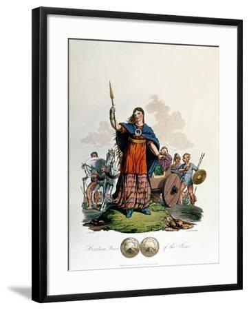 Boadicea, Queen of the Iceni (1st Century), Designed by C. H.S., Aquatinted and Pub. 1815--Framed Giclee Print