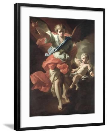 Guardian Angel, circa 1685-94-Andrea Pozzo-Framed Giclee Print
