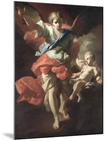Guardian Angel, circa 1685-94-Andrea Pozzo-Mounted Giclee Print