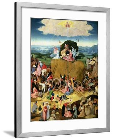 The Haywain: Central Panel of the Triptych, circa 1500-Hieronymus Bosch-Framed Giclee Print
