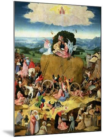 The Haywain: Central Panel of the Triptych, circa 1500-Hieronymus Bosch-Mounted Giclee Print