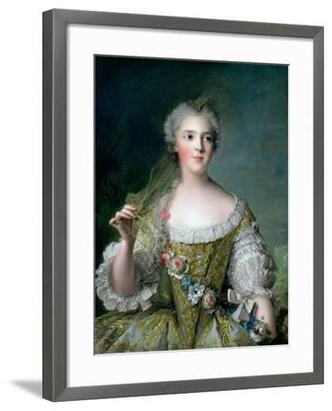 Portrait of Madame Sophie (1734-82), Daughter of Louis XV, at Fontevrault, 1748-Jean-Marc Nattier-Framed Giclee Print