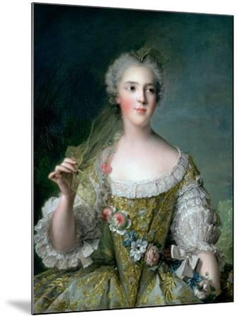 Portrait of Madame Sophie (1734-82), Daughter of Louis XV, at Fontevrault, 1748-Jean-Marc Nattier-Mounted Giclee Print