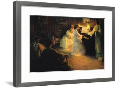 Young Girls at a Piano, 1906-Gabriel Deluc-Framed Giclee Print