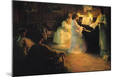 Young Girls at a Piano, 1906-Gabriel Deluc-Mounted Giclee Print