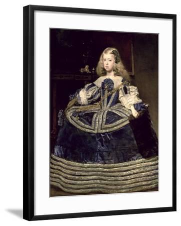 Infanta Margarita (1651-73) in Blue, 1659-Diego Velazquez-Framed Giclee Print