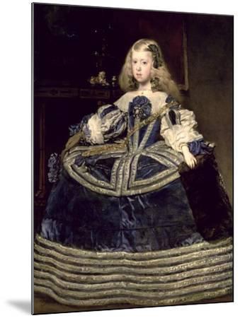 Infanta Margarita (1651-73) in Blue, 1659-Diego Velazquez-Mounted Giclee Print