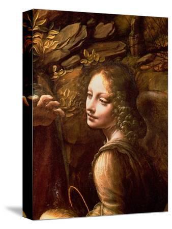 The Virgin of the Rocks (The Virgin with the Infant St. John Adoring the Infant Christ)-Leonardo da Vinci-Stretched Canvas Print