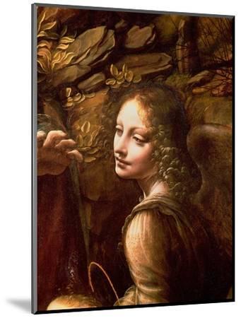 The Virgin of the Rocks (The Virgin with the Infant St. John Adoring the Infant Christ)-Leonardo da Vinci-Mounted Premium Giclee Print
