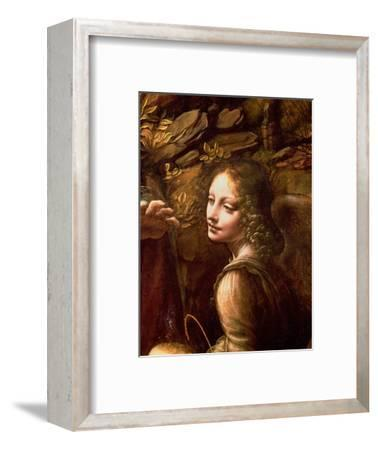 The Virgin of the Rocks (The Virgin with the Infant St. John Adoring the Infant Christ)-Leonardo da Vinci-Framed Premium Giclee Print