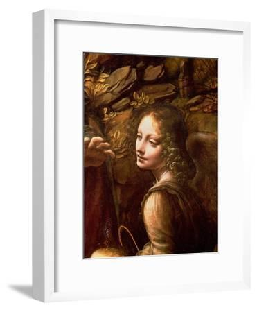 The Virgin of the Rocks (The Virgin with the Infant St. John Adoring the Infant Christ)-Leonardo da Vinci-Framed Giclee Print