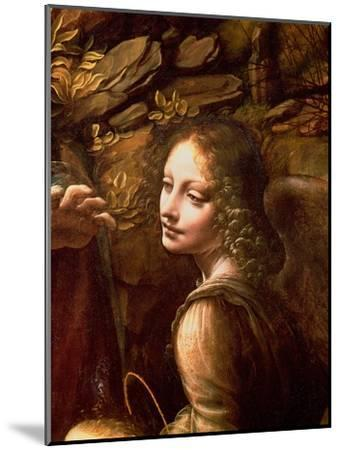 The Virgin of the Rocks (The Virgin with the Infant St. John Adoring the Infant Christ)-Leonardo da Vinci-Mounted Giclee Print