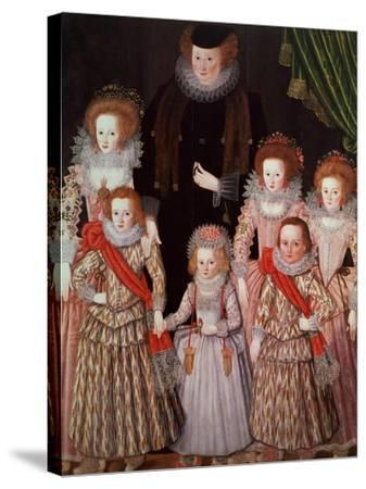 The Tasburgh Group: Lettice Cressy, Lady Tasburgh of Bodney, Norfolk and Her Children, circa 1605--Stretched Canvas Print