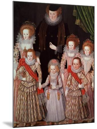 The Tasburgh Group: Lettice Cressy, Lady Tasburgh of Bodney, Norfolk and Her Children, circa 1605--Mounted Giclee Print