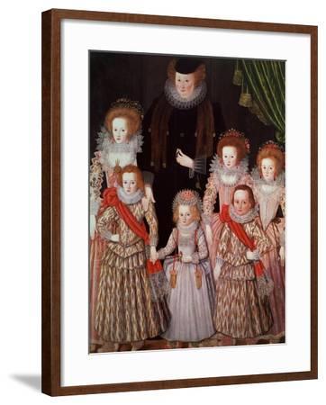 The Tasburgh Group: Lettice Cressy, Lady Tasburgh of Bodney, Norfolk and Her Children, circa 1605--Framed Giclee Print