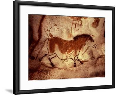 Rock Painting of a Horse, circa 17000 BC--Framed Giclee Print