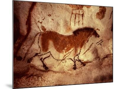 Rock Painting of a Horse, circa 17000 BC--Mounted Giclee Print