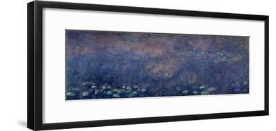 Waterlilies: Two Weeping Willows, Centre Left Section, 1914-18-Claude Monet-Framed Giclee Print