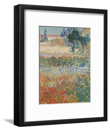 Garden in Bloom, Arles, c.1888-Vincent van Gogh-Framed Premium Giclee Print