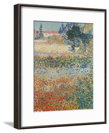 Garden in Bloom, Arles, c.1888-Vincent van Gogh-Framed Giclee Print