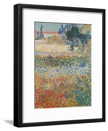 Garden in Bloom, Arles, c.1888-Vincent van Gogh-Framed Giclee Print