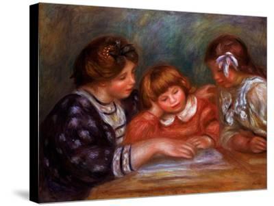 The Lesson, 1906-Pierre-Auguste Renoir-Stretched Canvas Print