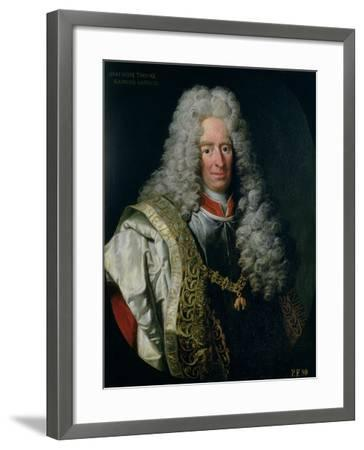Count Alois Thomas Raimund Von Harrach, Viceroy of Naples (1669-1742)-Johann Gottfried Auerbach-Framed Giclee Print