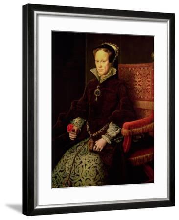 Queen Mary I (1516-58) 1554-Antonis Mor-Framed Giclee Print