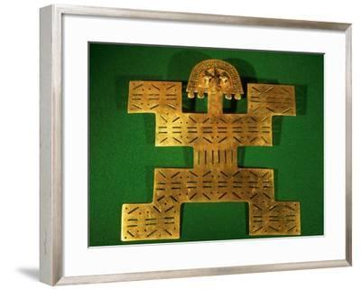 Pectoral Ornament of the Tolima Region, Colombia, circa 500-1500 AD--Framed Giclee Print