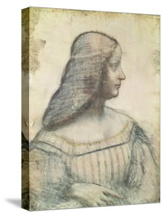 Portrait of Isabella D'Este (1474-1539)-Leonardo da Vinci-Stretched Canvas Print