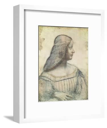 Portrait of Isabella D'Este (1474-1539)-Leonardo da Vinci-Framed Premium Giclee Print