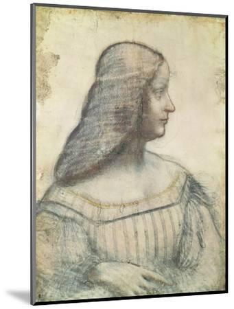 Portrait of Isabella D'Este (1474-1539)-Leonardo da Vinci-Mounted Premium Giclee Print
