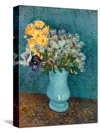 Vase of Lilacs, Daisies and Anemones, c.1887-Vincent van Gogh-Stretched Canvas Print