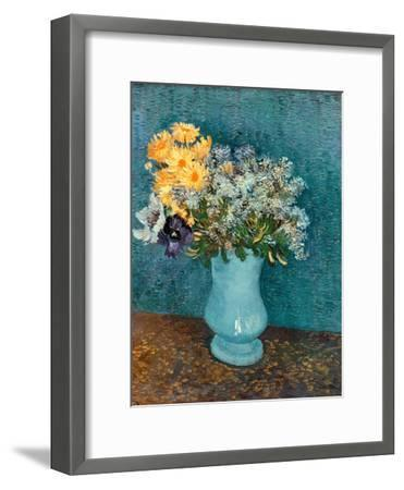 Vase of Lilacs, Daisies and Anemones, c.1887-Vincent van Gogh-Framed Giclee Print