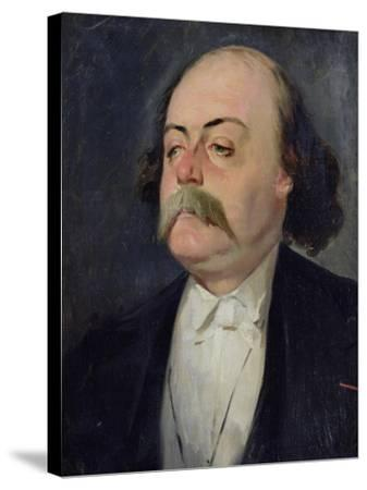 Portrait of Gustave Flaubert (1821-80) 1868-81-Eugene Giraud-Stretched Canvas Print