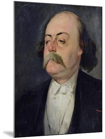 Portrait of Gustave Flaubert (1821-80) 1868-81-Eugene Giraud-Mounted Giclee Print