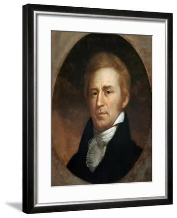 Portrait of William Clark, American Explorer and Governor of Missouri Territory--Framed Giclee Print