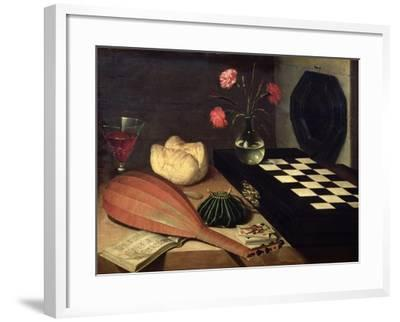 Still Life with Chess-Board, 1630-Lubin Baugin-Framed Giclee Print