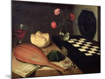 Still Life with Chess-Board, 1630-Lubin Baugin-Mounted Giclee Print