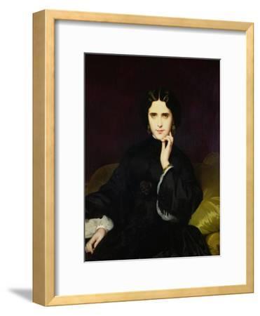 Portrait of Jeanne De Tourbay (1837-1908) 1862-Eugene Emmanuel Amaury-Duval-Framed Giclee Print