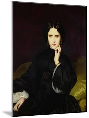 Portrait of Jeanne De Tourbay (1837-1908) 1862-Eugene Emmanuel Amaury-Duval-Mounted Giclee Print