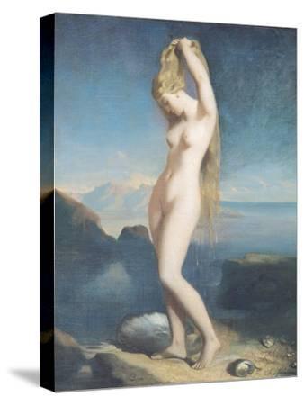Venus Anadyomene, or Venus of the Sea, 1838-Theodore Chasseriau-Stretched Canvas Print