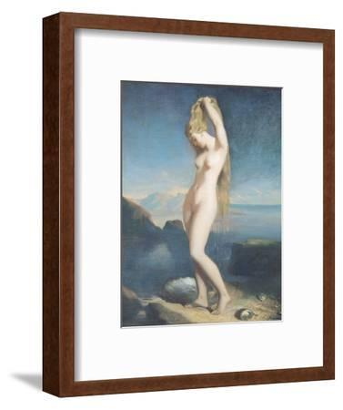 Venus Anadyomene, or Venus of the Sea, 1838-Theodore Chasseriau-Framed Premium Giclee Print