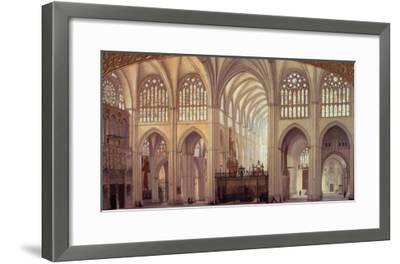 The Interior of Toledo Cathedral, 1856-Francisco Hernandez Y Tome-Framed Giclee Print
