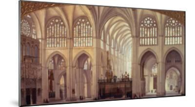 The Interior of Toledo Cathedral, 1856-Francisco Hernandez Y Tome-Mounted Giclee Print