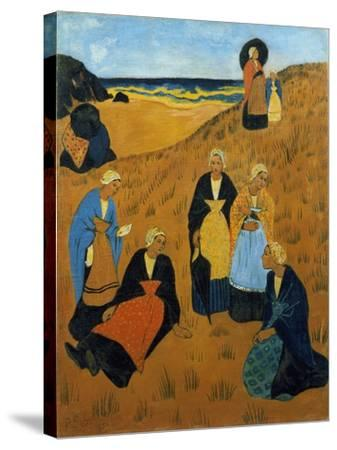Young Breton Women Wearing Shawls, or the Girls of Douarnenez, 1895-Paul Serusier-Stretched Canvas Print