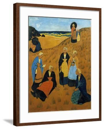 Young Breton Women Wearing Shawls, or the Girls of Douarnenez, 1895-Paul Serusier-Framed Giclee Print